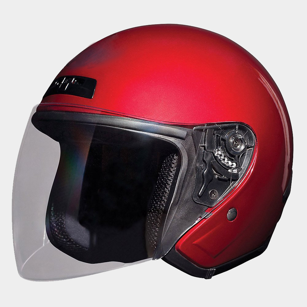 At motorcycle rider training, wear a full face helmet.
